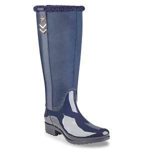 LAST Sz 7 Tommy Hilfiger Navy Fabric Weather Boot